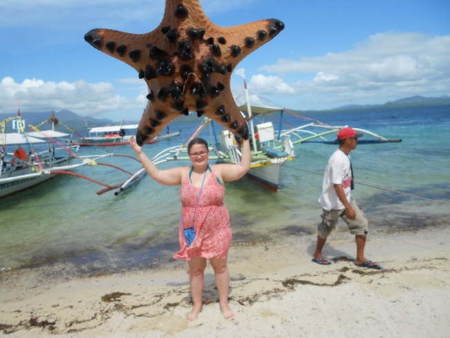 that's a real starfish!