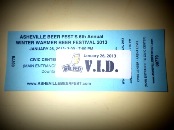 I got my Winter Warmer ticket in the mail!