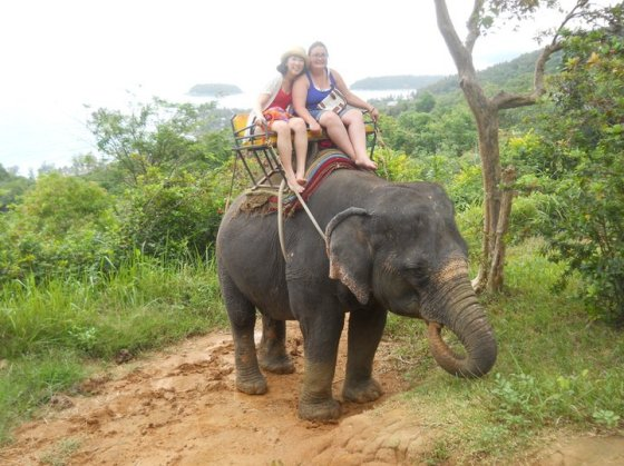 riding an elephant was scary! (Thailand, July 2011)