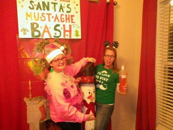 Santa's Mustache Bash, December 2012