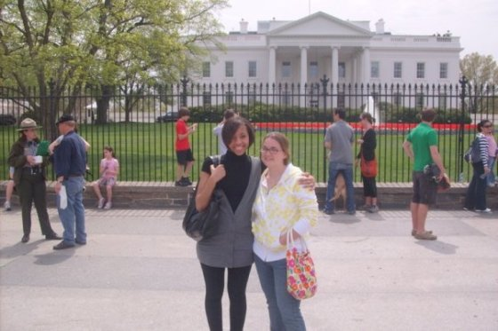 outside The White House, April 2009