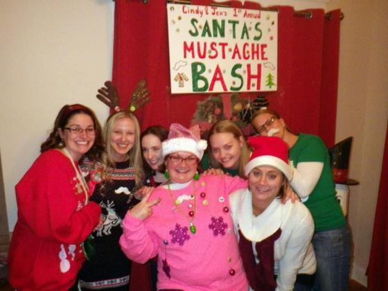 Cindy & Jen's 1st Annual Santa's Mustache Bash 12/22/12