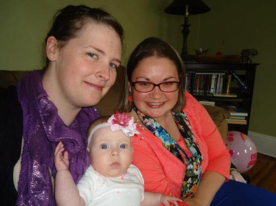 me, my stepsister Ruth, and her daughter Klay
