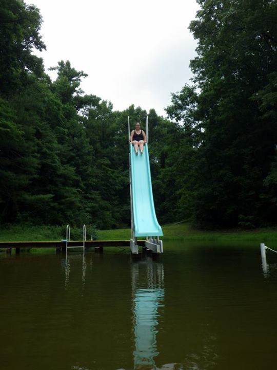 yep that's me about to go down the waterslide
