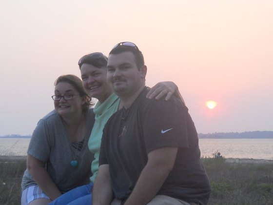 Sullivan's Island in 2011 with my mom and brother