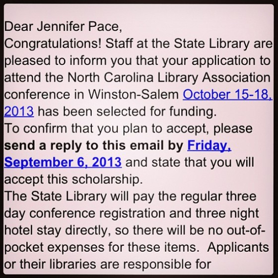 I got a scholarship to the NCLA conference!